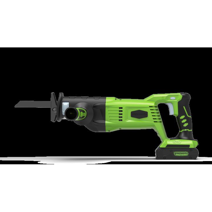Пила сабельная аккумуляторная GreenWorks GD24RS 24V