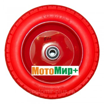 Колесо тачки бескамерное облегченное универсальное 3,0-4,0 * 8 диаметр подшипника 20 мм
