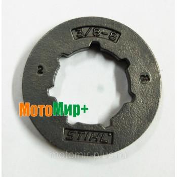 Венец бензопилы (кольцевая цепная звездочка) Stihl 8 зубов 3/8 шаг увеличенный арт.