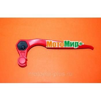 Рычаг ручки сцепления культиватора Champion BC 5602 / 6712 / 6612H / 7712 сдвоенной (красный)