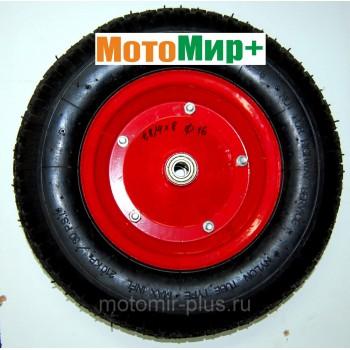 Колесо тачки 4,0/4,8*8 диаметр подшипника 16 мм (короткая ступица)