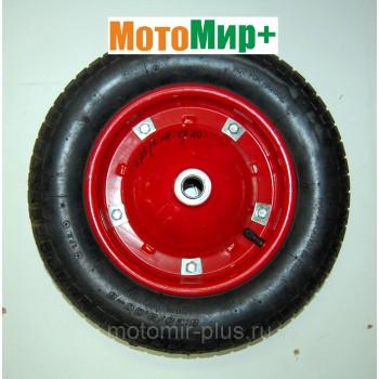Колесо тачки 3,25/3,0*8 диаметр подшипника 20 мм (короткая ступица)
