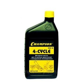 Масло моторное для четырехтактных двигателей Champion минеральное SAE30, 1 л