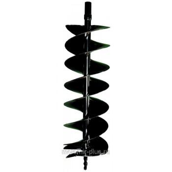 Шнек (бур, насадка, сверло) 200 мм для мотобура почвенный