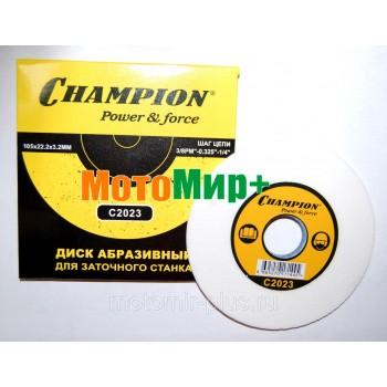 """Диск заточной 105х3,2х22,2 (шаг цепи: 3/8PM"""",0,325"""",1/4) Champion C 2023 для станка по заточке цепей"""